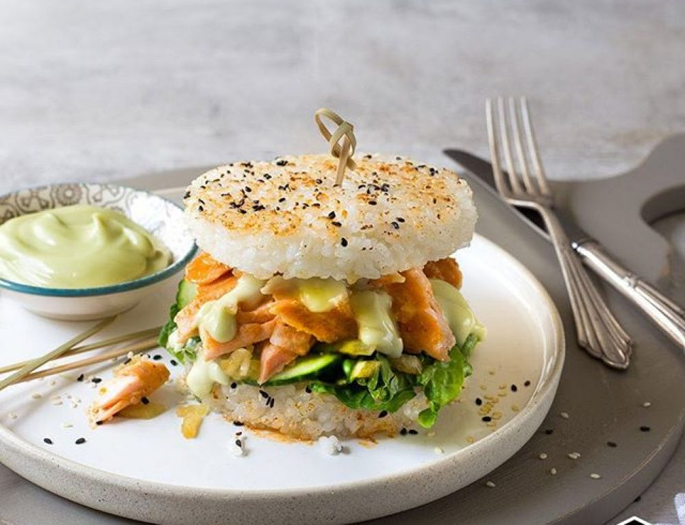 Kikkoman sushi burger